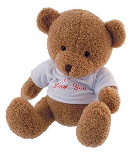 "Bieco 04601557 Plüsch Bärchen Elias, hellbraun, circa 29 cm, mit T-Shirt\""I Love You\"", braun"