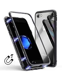 Funda iPhone 7 8 Transparent, Coollee Funda 360 Full Cover Con Bordes y Fina Dura
