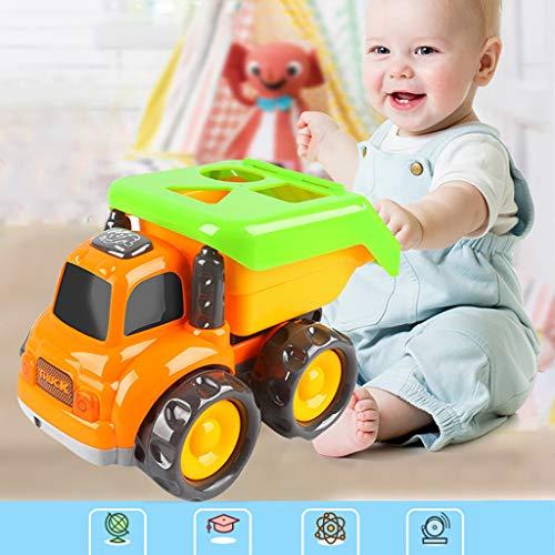 Mitlfuny Auto-Modell Plüsch Bildung Squishy Spielzeug aufblasbares Spielzeug im Freien Spielzeug,Baby-Kleinkinder drücken und gehen Friction Powered Car Toys für Jungen Mädchen ab 18 Monaten