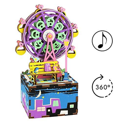 EisEyen Castle in The Sky Music Box, Riesenrad Spieluhr Weihnachten Musik 10 * 7.6 * 16.8cm (Weihnachts-riesenrad)