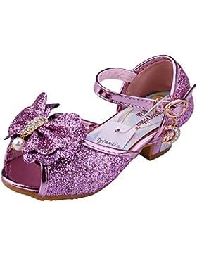 Tyidalin Niña Bailarina Zapatos de Tacón Disfraz de Princesa Zapatilla de Ballet para 3 a 12 Años EU24-35(Color...