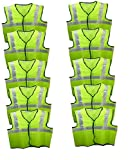 #7: Brite Eye Reflective Safety Green Polyster Jacket (Pack of 10) BEWARE OF THE FAKE SELLERS. CHECK BRITE EYE LABEL AT THE COLLAR