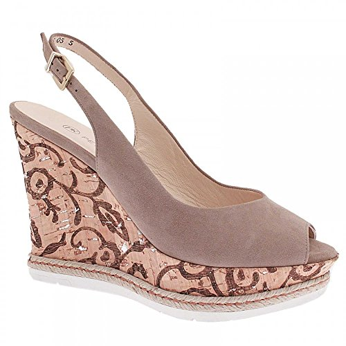 Peter Kaiser Regine Cork High Sling Back Wedge Taupe