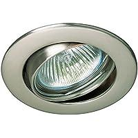Empotrable circular basculante y orientable Zamack circular (Halógeno o LED) (Niquel)