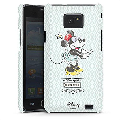 Handyhülle kompatibel mit Samsung Galaxy S2 Hülle Premium Case Disney Minnie Mouse Vintage Geschenke Merchandise