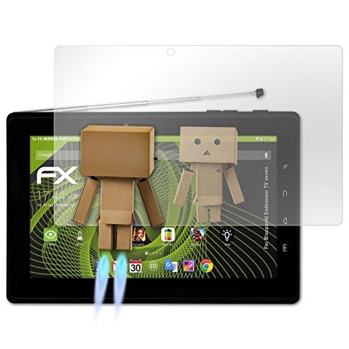 atFolix Bildschirmfolie kompatibel mit Blaupunkt Endeavour TV Seven Spiegelfolie, Spiegeleffekt FX Schutzfolie