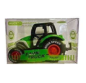 Fun Toys 10536 - Farm Truck, Tractor, Different Colour, Quality Fabricado, Pull Back