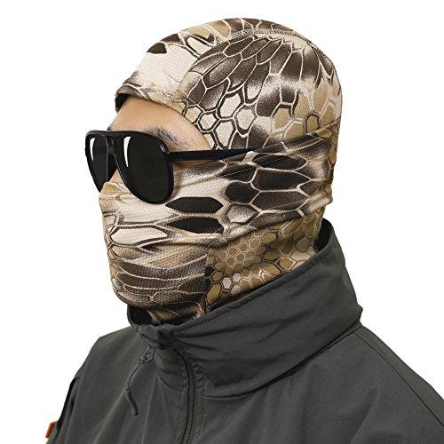 OneTigris Camo Taktische Kopfhaube Sturmhaube Vollgesichtsmaske für Motorrad / Fahrrad / Ski / Jagd (Highlander)