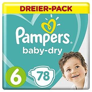 Pampers Baby-Dry Windeln, Gr.6, für Atmungsaktive Trockenheit, 78 Stück