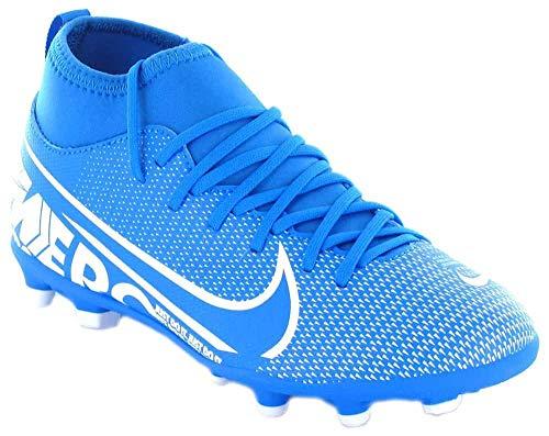 Nike jr superfly 7 club fg/mg, scarpe da calcio unisex-bambini, multicolore (blue hero/white/obsidian 414), 36 eu