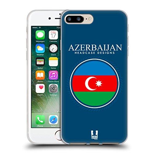 Head Case Designs Bandiera Albanese Bandiere E Toppe Cover Morbida In Gel Per Apple iPhone 7 / iPhone 8 Bandiera DellAzerbaigian