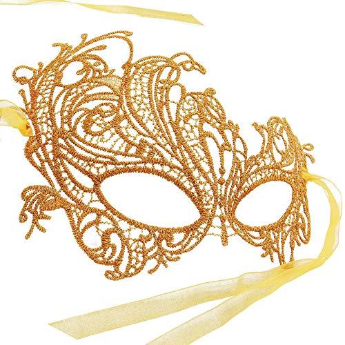 RXBC2011 Maschera di Halloween Party Pizzo Fenice Maschera Sexy Principessa Mezza faccia Oro