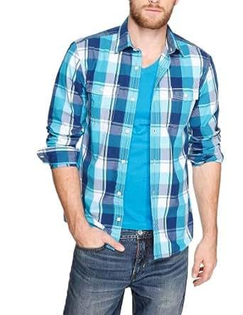 s.Oliver Herren Slim Fit Freizeithemd 13.401.21.7409, Gr. XXX-Large, Blau (turquoise)