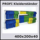 400x200x40 PROFI KLEIDERSTÄNDER WANDSTÄNDER BEKLEIDUNGSSTÄNDER GARDEROBE-P400R