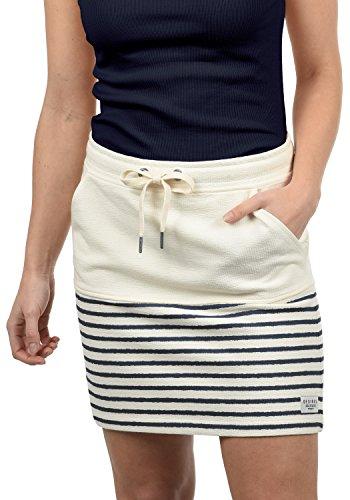 DESIRES Pippa Damen Kurzer Rock Sweatrock Minirock Mit Streifen-Muster Aus 100% Baumwolle, Größe:M, Farbe:Insignia Blue (1991) (Rock, Top, Strumpfhose)
