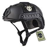 Army Military Style-SWAT Kampf PJ Typ Fast Helm schwarz für CQB Airsoft Paintball Schießen L/XL