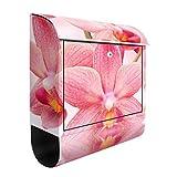Design cassetta delle lettere rosa orchidee su acqua | 39x 46x 13cm Mailbox Postbox Letter slot Letter box Decor foil, dimensioni: 46cm x 39cm