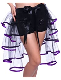 1980s 80s Rainbow Vivid Neon Flo RaRa Rave Party Ballet Dance Ruffled Tiered Tutu Skirts HEN NIGHT Clubwear Fancy Dress
