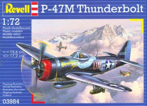 Revell Modellbausatz Flugzeug 1:72 - P-47M Thunderbolt im Maßstab 1:72, Level 4, originalgetreue Nachbildung mit vielen Details, 03984