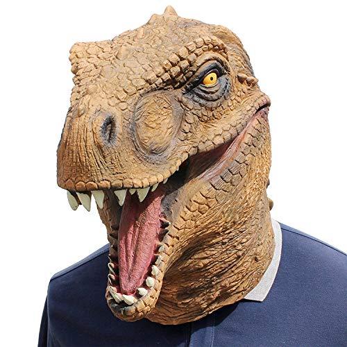 Einfach Superheld Wirklich Kostüm - KYOKIM Tyrannosaurus Rex Maske Kind Erwachsener Halloween Mottoparty Helm Cosplay Karneva Herren Held Vollen Kopf Deluxe Replik