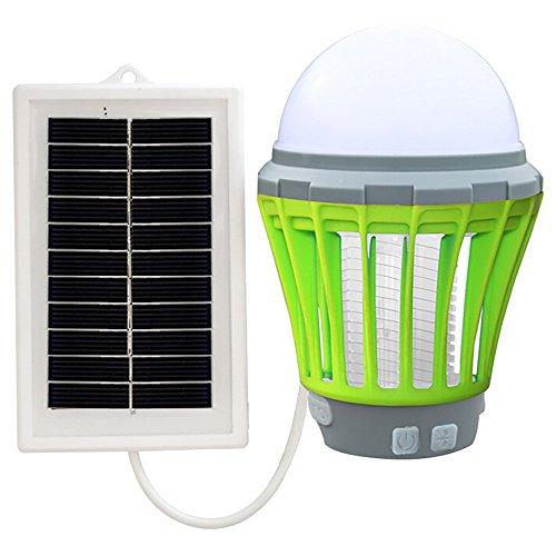 Lampe Moustique Solaire Portable Lampe Anti-Insecte et...