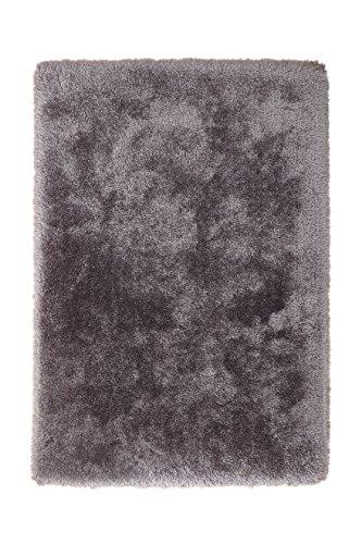 Teppich Wohnzimmer Carpet Hochflor Shaggy Design Cosy 110 Rug Unifarbe Muster Polyester 120x170 cm Grau/Teppiche günstig online kaufen