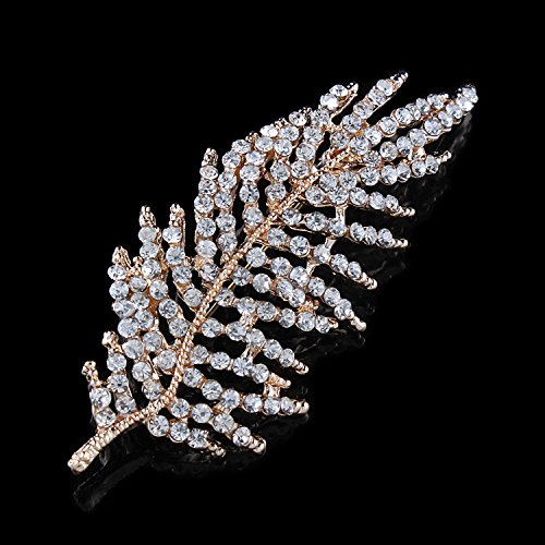 My Dream Day Die eleganten und glänzenden Mode Mode schöne Brosche Pins Rücken United Baum Blätter glänzende Mode Mode schöne Brosche Pins Rücken Seidenschal binden das White Diamond
