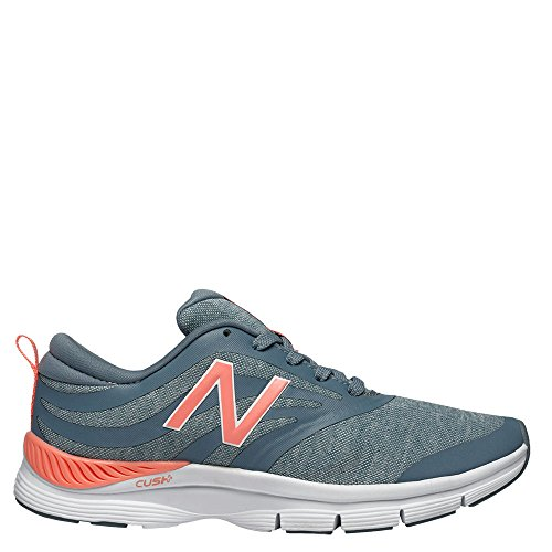New Balance Women's WX713 Grey/Coral Sneaker 10 B (M) Grey/Coral