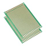 sourcing map 7x9cm a facciata singola scheda universale a circuito stampato per saldatura DIY verde 2pz.