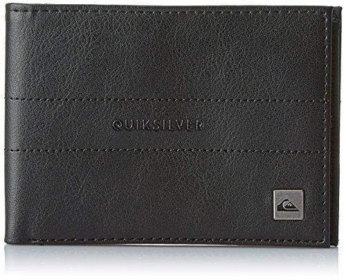 Quiksilver Stitched II Porta Carte di Credito, 12 cm, Nero