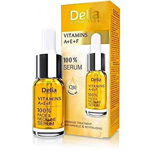 Delia-Vitaminas A + E + F Tratamiento Intensivo De anti-winkle & revitalizante para todos los tipos de piel-100% de cara y cuello Serum-Paraben libre