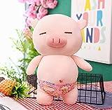 WYBL Piggy Peluche Juguete Lindo Cerdo Felpa De Dibujos Animados Animal Muñeca Suave Piel Cojín Cojín Cojín Niño Novias Cumpleaños Regalo Mejor Regalo Rosa Natación Trunks 27Cm