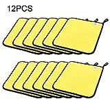 12pcs de microfibra paño de Microfibra paños de limpieza coche pelusa super absorbente toalla de microfibra lavado encerado pulido de coches