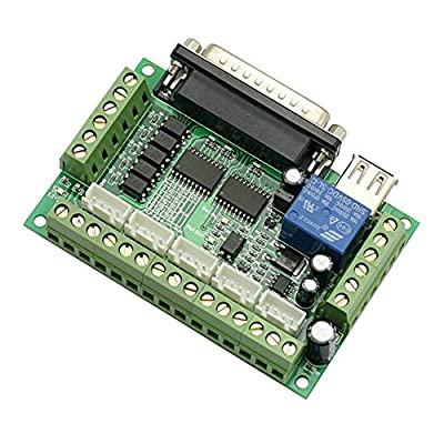 SainSmart CNC 5 Achsen Schrittmotor Steuerung, CNC Stepper Motor Driver 5 Axis Interface Board adapter, Blau
