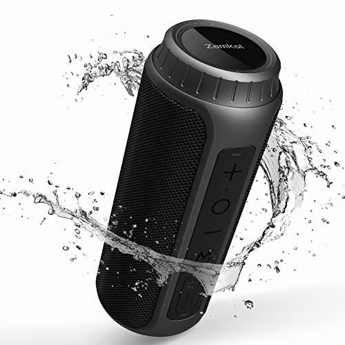 Zamkol 30W Bluetooth Lautsprecher, IPX6 Wasserdichter Wireless tragbarer TWS Kabelloser Lautsprecher, AUX und TF Karte, 5.0 Bluetooth mit Wasserfest Stoßfest Mikrofon Portable 360 Stereo Audio