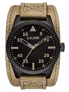 s.Oliver Herren-Armbanduhr XL Analog Quarz Leder SO-2879-LQ