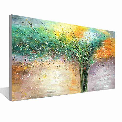 XIANRENGE 100% Reine Handgemalte Ölgemälde,Abstract Bunten Baum Landschaft Malerei,Große Größe Moderner Wand Kunst Auf Leinwand Pop Bilder,Für Wohnzimmer Home Decor,90X180Cm Rahmenlos -