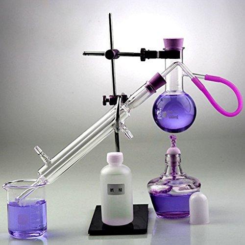 Brenner Destillation Apparat Lab Glaswaren Scientific Industrie Wasser Brenner zu machen ätherisches Öl Alkohol Brenner Luftreiniger Destillation Apparat Kit 100Sets (100ml)