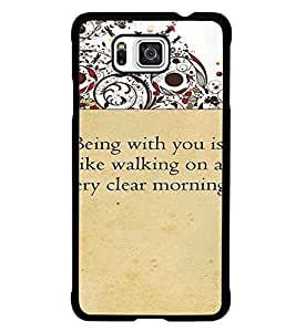 PrintDhaba Quote D-4716 Back Case Cover for SAMSUNG GALAXY ALPHA (Multi-Coloured)