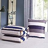 zyl 2 in 1 Baumwolle-Flachs Kissen Ist Haushalt Vogue Tuch Dual-Purpose Kissen Kissen Decke Kissen Quilt,BrownA-150cm*195cm