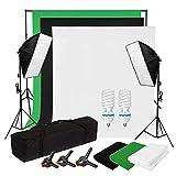 BPS 1250w,5500k,Illuminazione Continuo Softbox kit con Fondale...