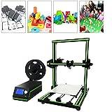 Anet E10DIY 3D Kit para Impresora parcialmente montado en ABS PLA Hips Super Building Volume 220* 270* 300MM 3D Printer EU Conector (Negro & Verde)