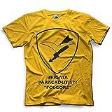 Mokaba T-Shirt Brigata Paracadutisti Folgore Italia Uomo - Vari Colori (Giallo)