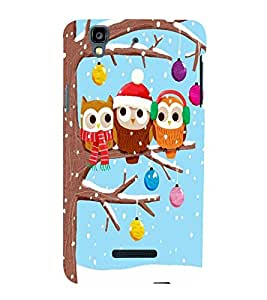 Cute owls Back Case Cover for YU Yureka::Micromax Yureka AO5510