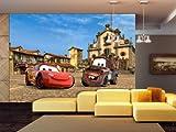 AG Design FTDXXL 0257  Disney Cars 2, Papier Fototapete Kinderzimmer- 360x255 cm - 4 teile, Papier, multicolor, 0,1 x 360 x 255 cm