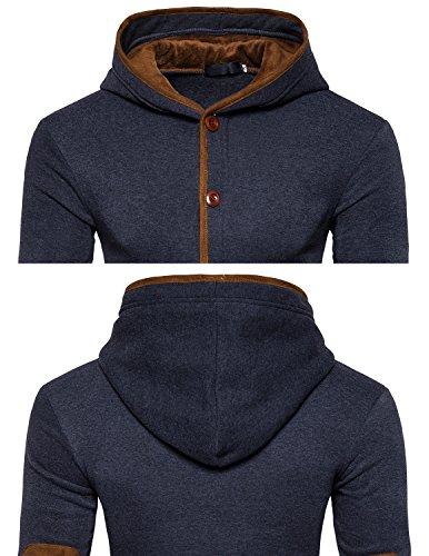 Leisure Herren Beliebt DüNnen Hoodie Warmen Kapuzenjacke Pullover Sweatshirt Kapuzenpullover Sweatjacke Grau 1