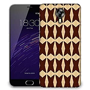 Snoogg Brown Strips Designer Protective Phone Back Case Cover For Meizu M2