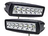 Tanli 2 X 18 W Led Foco Lampara de coche Faros de trabajo led Luces diurna Luz de la luz de los...
