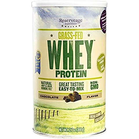 Reserveage - Grass Fed Whey Protein, Minimally Processed with High Biological Value, Chocolate, 12 Servings (12,7 Ounce Chocolate)