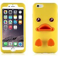 JAMMYLIZARD | Cover Anatra Sally 3D (App LINE) in silicone per iPhone 6 e 6s (4.7 pollici), giallo